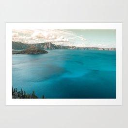 Summer At The Lake Art Print
