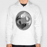yin yang Hoodies featuring Yin &Yang by ZE-DESIGN