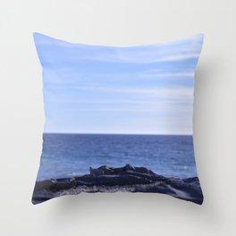 sea rocks. Throw Pillow