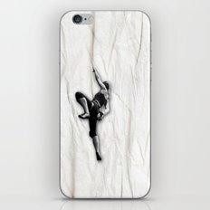 Woman Climbing a Wrinkle iPhone & iPod Skin