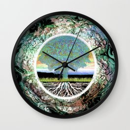 Tree of Life Hope and Happiness Wall Clock