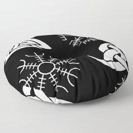 Viking Symbols Floor Pillow