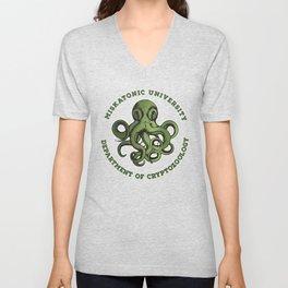Cthulhu Tee- Cryptozoology Dept. T-Shirt Unisex V-Neck
