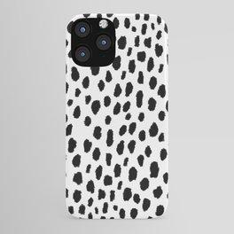 Dalmatian Spots (black/white) iPhone Case