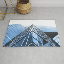 LOW ANGLE PHOTOGRAPHY CURTAIN WALL BUILDINGS Rug