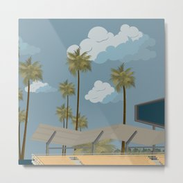 Dodger Stadium's Outfield Pavilion Metal Print