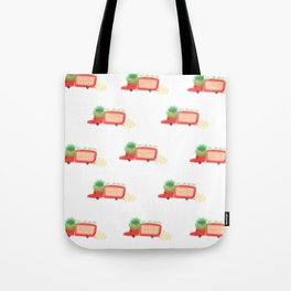 Red yeast pork truck Tote Bag