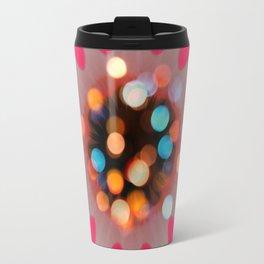 Bubble Gum Bright Colors Flower Desig Travel Mug