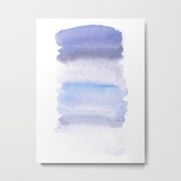 Lilac grey watercolor fantasy Metal Print
