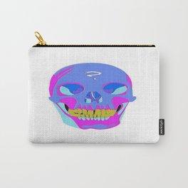Neon Pixel Psychaedelic Halloween Skull  Carry-All Pouch