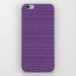 Amethyst Orchid Wood Grain Color Accent iPhone Skin