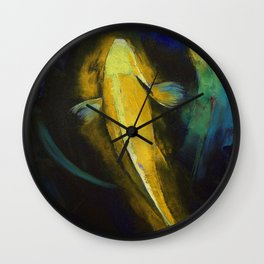 Ogon Koi and Water Ripple Wall Clock