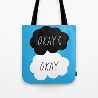 okay Tote Bags featuring Okay? Okay by Lola