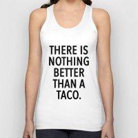 taco Tank Tops featuring taco by ClicheZero