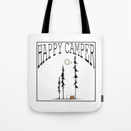 Happy Camper - with Lettering Tote Bag