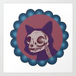 Spooky kitty Art Print