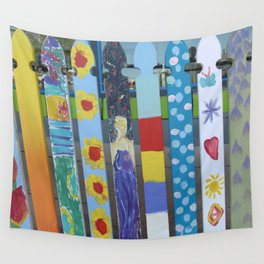 Vintage Fashionable Picket Fence Wall Tapestry