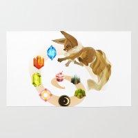 eevee Area & Throw Rugs featuring Eevee by Katie O'Meara
