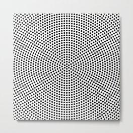 Concentric Dots Metal Print