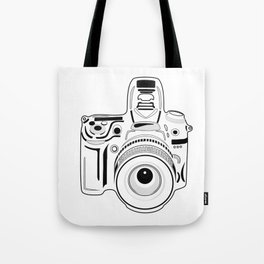 Black and White Camera Tote Bag
