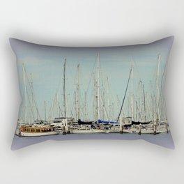 Flotilla of Yachts  Rectangular Pillow