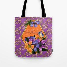 Paisley Anemones  Tote Bag