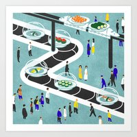 sushi Art Prints featuring Sushi by Alexey Khamkin