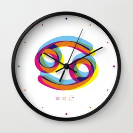 Cancer ~ Zodiac Wall Clock