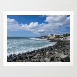 Aguadilla coast Art Print