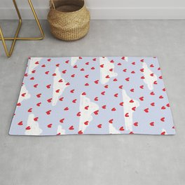 Hearts // Clouds Rug