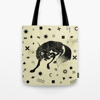 wolf Tote Bags featuring Wolf by Anya Volk