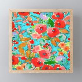 summer blue Framed Mini Art Print