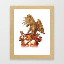 eagle on shield Framed Art Print