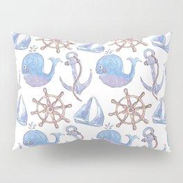 Whale-y Nautical Pillow Sham