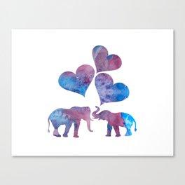 Elephants art Canvas Print