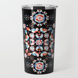 Folkloric Ombre Lovebirds Travel Mug