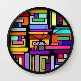COLORS PARALLELOGRAM  Wall Clock