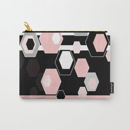 Geometric pattern . Hexagon. 2 Carry-All Pouch
