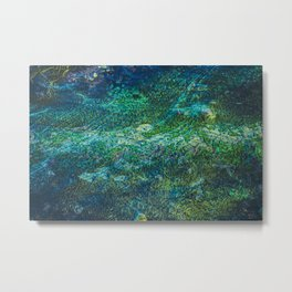 Mud III (Green) Metal Print