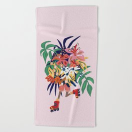 Floral Roller Babe Beach Towel