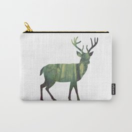 Reindeer Silhouette | Forest Photography Carry-All Pouch