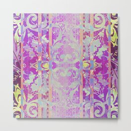 Moroccan Lavender and Yellow Metal Print