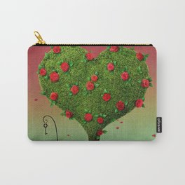 flowering tree in shape of heart and labyrinth Carry-All Pouch