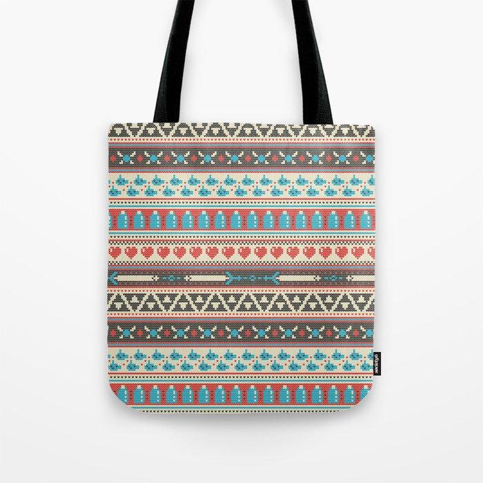 Fair-Hyle Knit Tote Bag