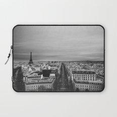 Black and White Paris Laptop Sleeve