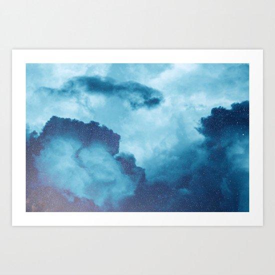 Mixed sky Art Print