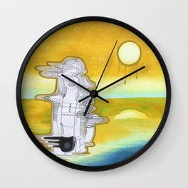 Crashing into another universe Wall Clock