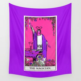 1. The Magician- Neon Dreams Tarot Wall Tapestry