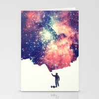 night Stationery Cards featuring Painting the universe by badbugs_art