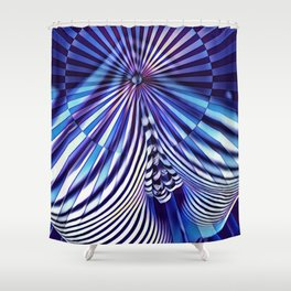 7694s-KMA Abstract Blue Nude Intimate Sexy Hot Shower Curtain